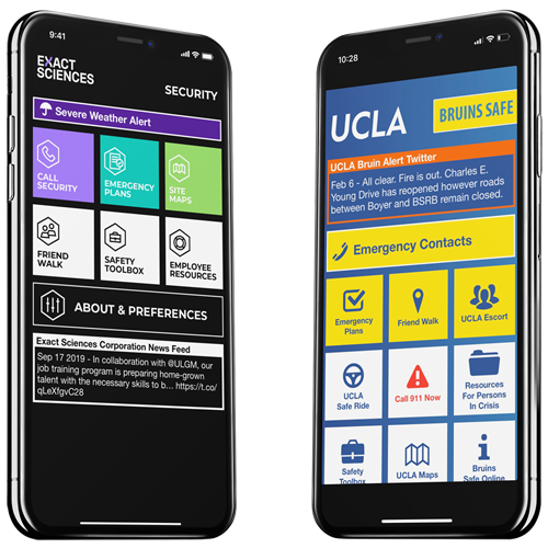 Exact Sciences and UCLA App Images