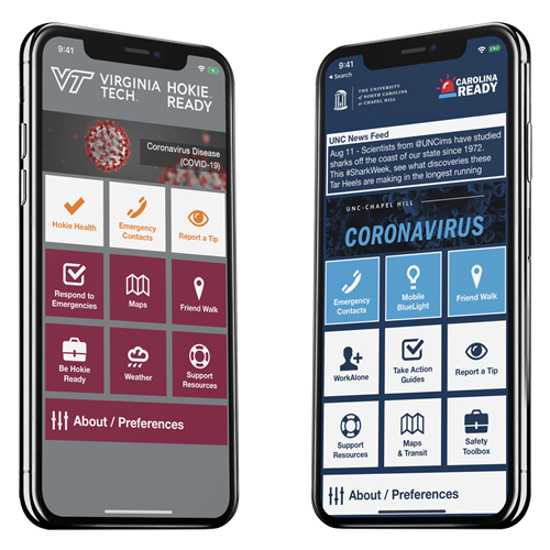 AppArmor Virginia Tech and UNC App Image