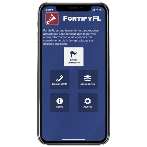 Screenshot of Spanish FortifyFL app